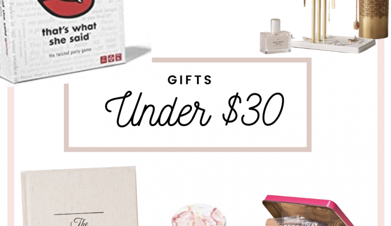 Gifts for her under $30